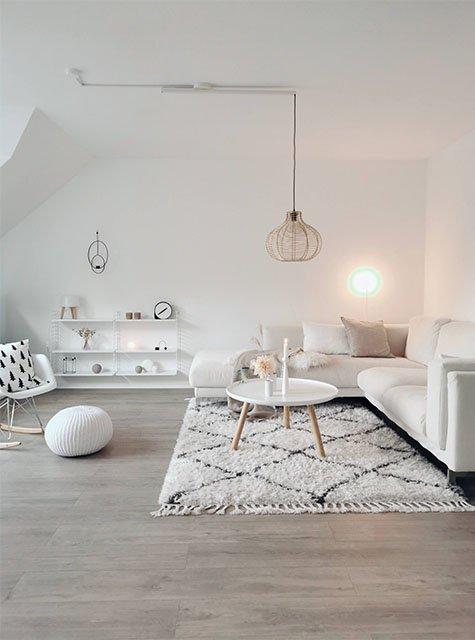 Salon Lightswing avec anneau monté en surface (Single Blanc Mat)