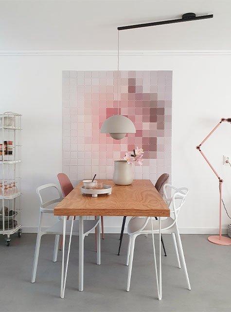 Table de salle à manger Lightswing (Single noir mat)