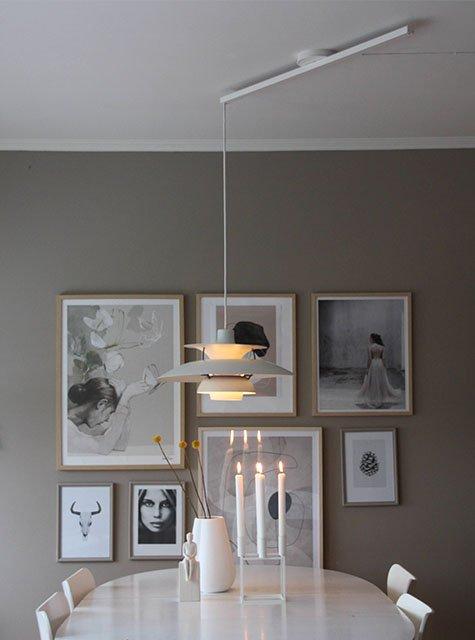 Salle à manger Lightswing (Single Blanc Mat)