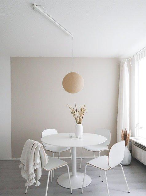 Table de salle à manger ronde Lightswing (Single blanc mat)